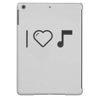 Amo letras de la música funda para iPad air