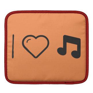 Amo letras de la música fundas para iPads