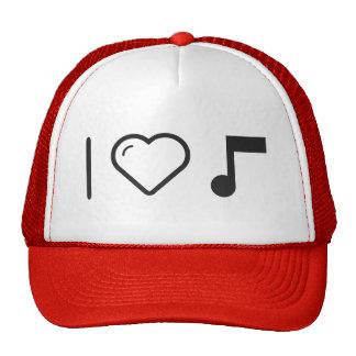 Amo letras de la música gorras de camionero