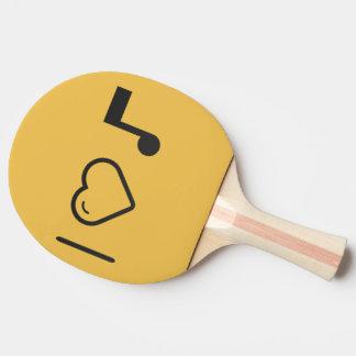 Amo letras de la música pala de ping pong