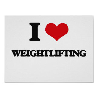 Amo levantamiento de pesas impresiones