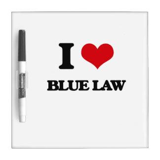 Amo ley azul pizarras blancas