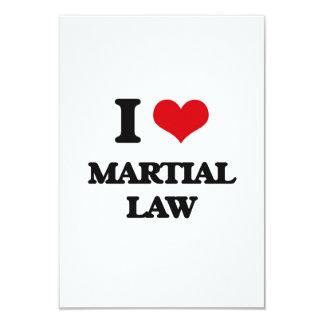 Amo ley marcial invitaciones personalizada