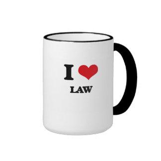 Amo ley taza de dos colores