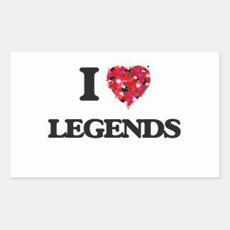 Amo leyendas pegatina rectangular