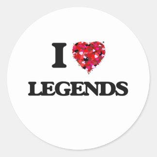 Amo leyendas pegatina redonda