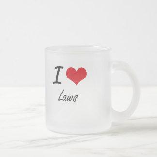 Amo leyes taza de cristal
