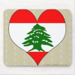 Amo Líbano Alfombrillas De Ratón