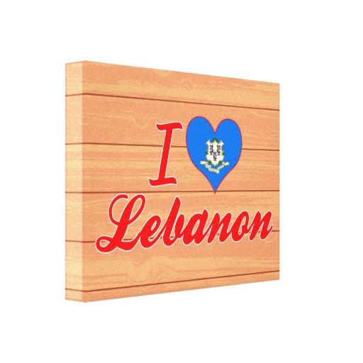 Amo Líbano, Connecticut Impresiones En Lona Estiradas