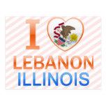 Amo Líbano, IL Tarjeta Postal