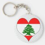 Amo Líbano Llaveros