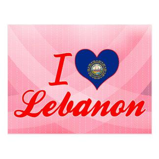 Amo Líbano, New Hampshire Tarjetas Postales
