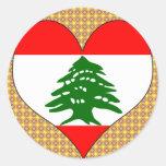 Amo Líbano Pegatina Redonda