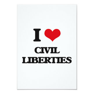 Amo libertades civiles comunicado personalizado