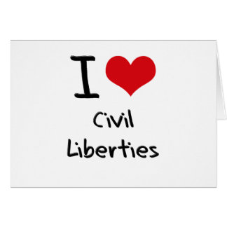 Amo libertades civiles tarjeton