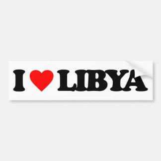 AMO LIBIA PEGATINA DE PARACHOQUE