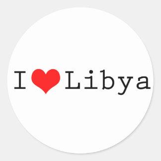 Amo Libia Pegatina Redonda