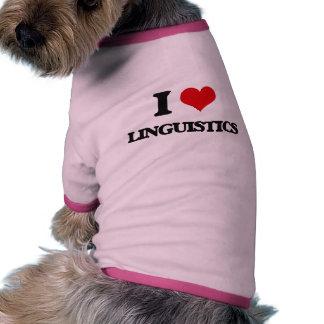 Amo lingüística camiseta con mangas para perro