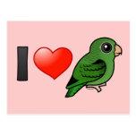 Amo Linnies verde Postal