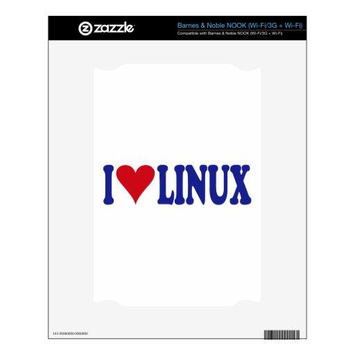 Amo Linux Calcomanías Para NOOK