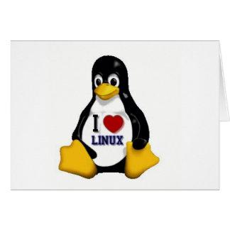 Amo Linux Tarjeta De Felicitación