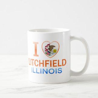 Amo Litchfield, IL Taza Básica Blanca