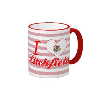 Amo Litchfield, Illinois Taza A Dos Colores
