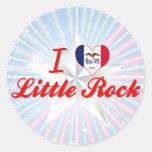 Amo Little Rock, Iowa Etiquetas Redondas