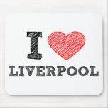 Amo Liverpool Alfombrilla De Ratón