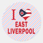 Amo Liverpool del este, Ohio Pegatinas Redondas