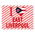 Amo Liverpool del este, Ohio Postales