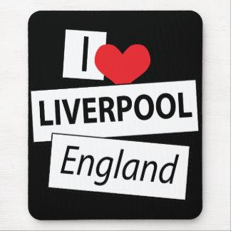 Amo Liverpool Inglaterra Alfombrillas De Ratones