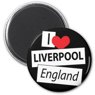 Amo Liverpool Inglaterra Imán Redondo 5 Cm