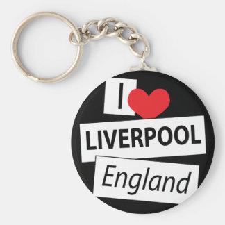 Amo Liverpool Inglaterra Llavero Redondo Tipo Pin
