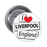 Amo Liverpool Inglaterra Pins
