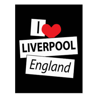 Amo Liverpool Inglaterra Postal