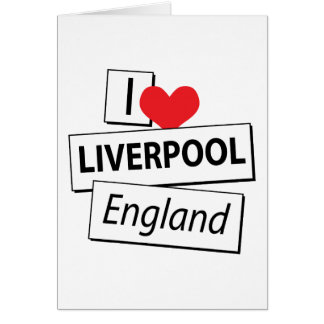 Amo Liverpool Inglaterra Tarjeta De Felicitación