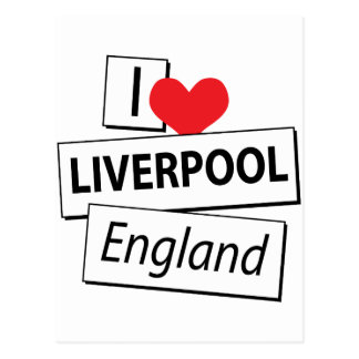 Amo Liverpool Inglaterra Tarjetas Postales