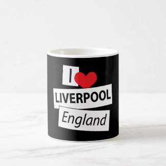 Amo Liverpool Inglaterra Taza De Café