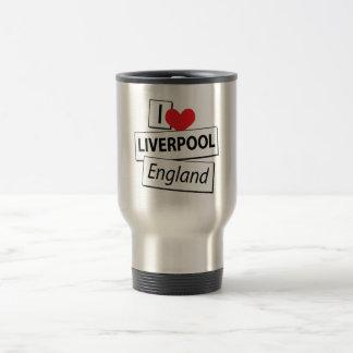 Amo Liverpool Inglaterra Taza De Viaje