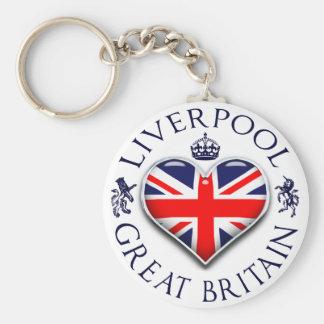 Amo Liverpool Llavero Redondo Tipo Pin