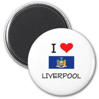 Amo Liverpool Nueva York Imán Redondo 5 Cm