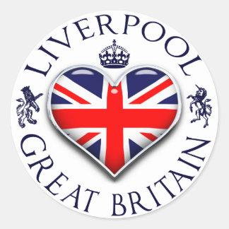 Amo Liverpool Pegatina Redonda
