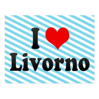 Amo Livorno, Italia Tarjetas Postales