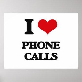 Amo llamadas de teléfono posters