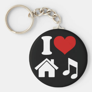 Amo llavero de la música de la casa