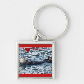 Amo llavero de las nutrias de mar