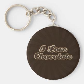 Amo llavero del chocolate