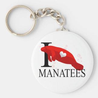 Amo llaveros de los Manatees