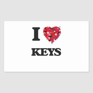 Amo llaves pegatina rectangular